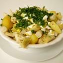 Salade van schorseneren, aardappel en artisjokharten